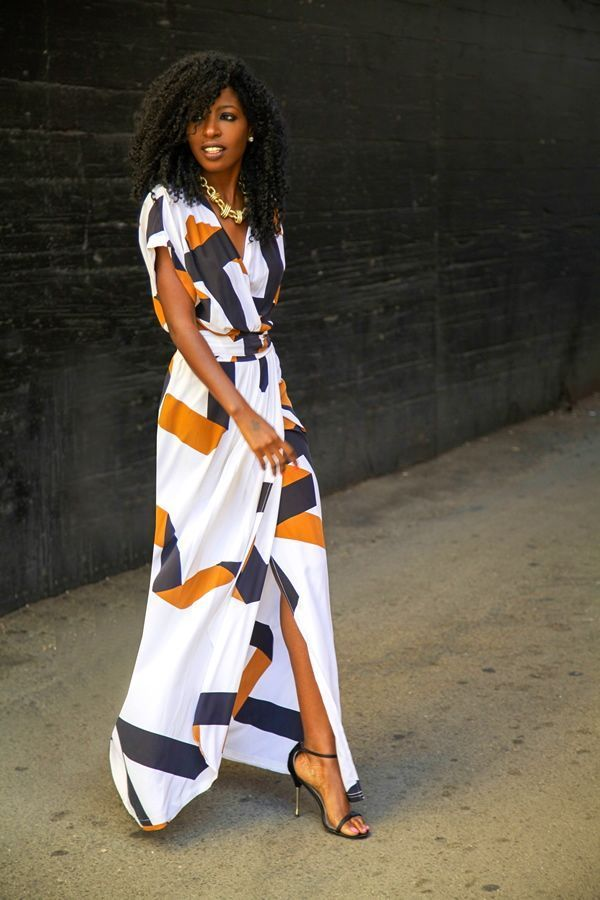 Fashion Blogger, Folake Kuye Huntoon @Style Pantry -- Printed Wrap Dress
