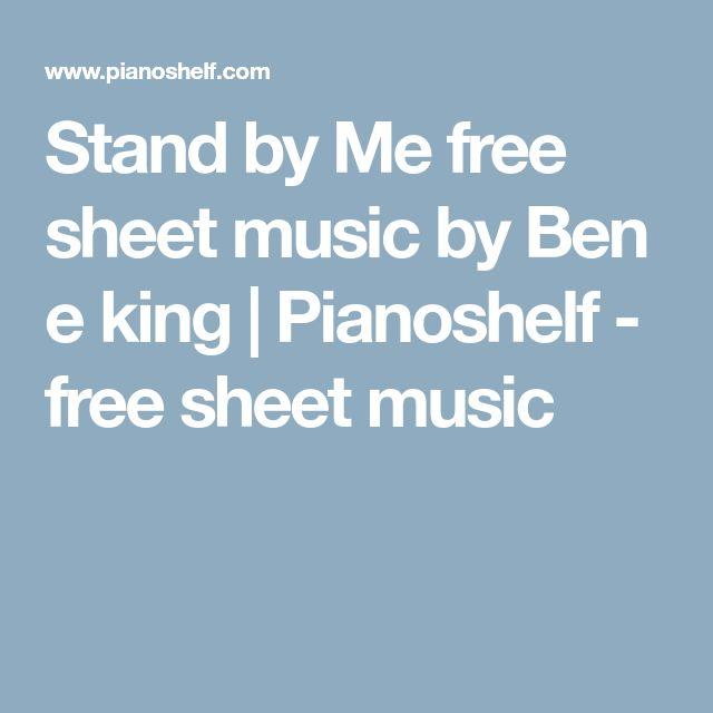 Stand by Me free sheet music by Ben e king | Pianoshelf - free sheet music
