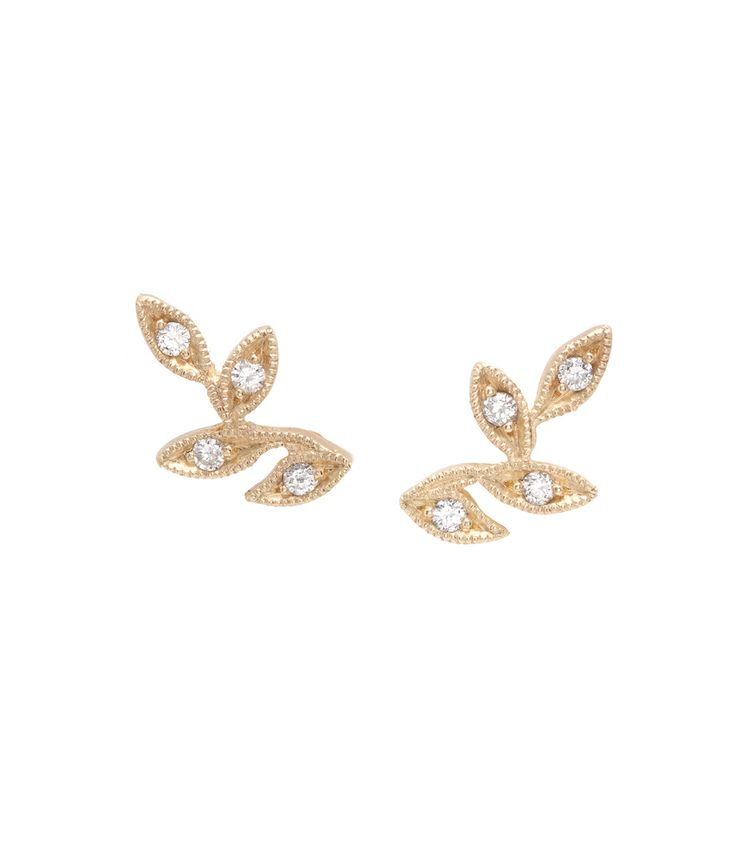 Whimsical and wild, we love how these leafy 14K gold ear climbers grace the lobes with their sparkle and texture. Accented with diamonds, (0.10ctw), they are a perfectly stylish way to bring the splendor of the outdoors with you everywhere you go! What an exceptional gift inspired by nature's brilliance. For the bohemian beauty who never settles when it comes to accessorizing.