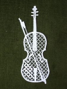 violon dentelle Carole