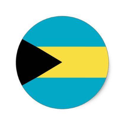Bahamas Flag Classic Round Sticker - craft supplies diy custom design supply special