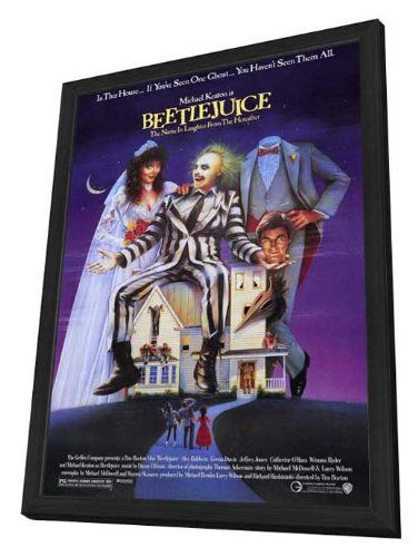 Beetlejuice - 27 x 40 Framed Movie Poster @ niftywarehouse.com