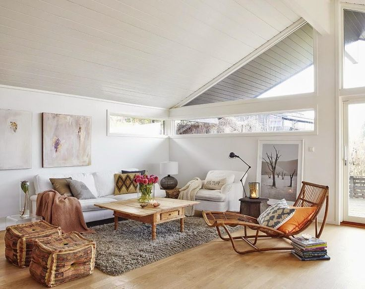 Inspiración Deco: casas con madera y blanco