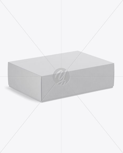 Textured Kraft Box Mockup - Half Side View (High-Angle Shot)