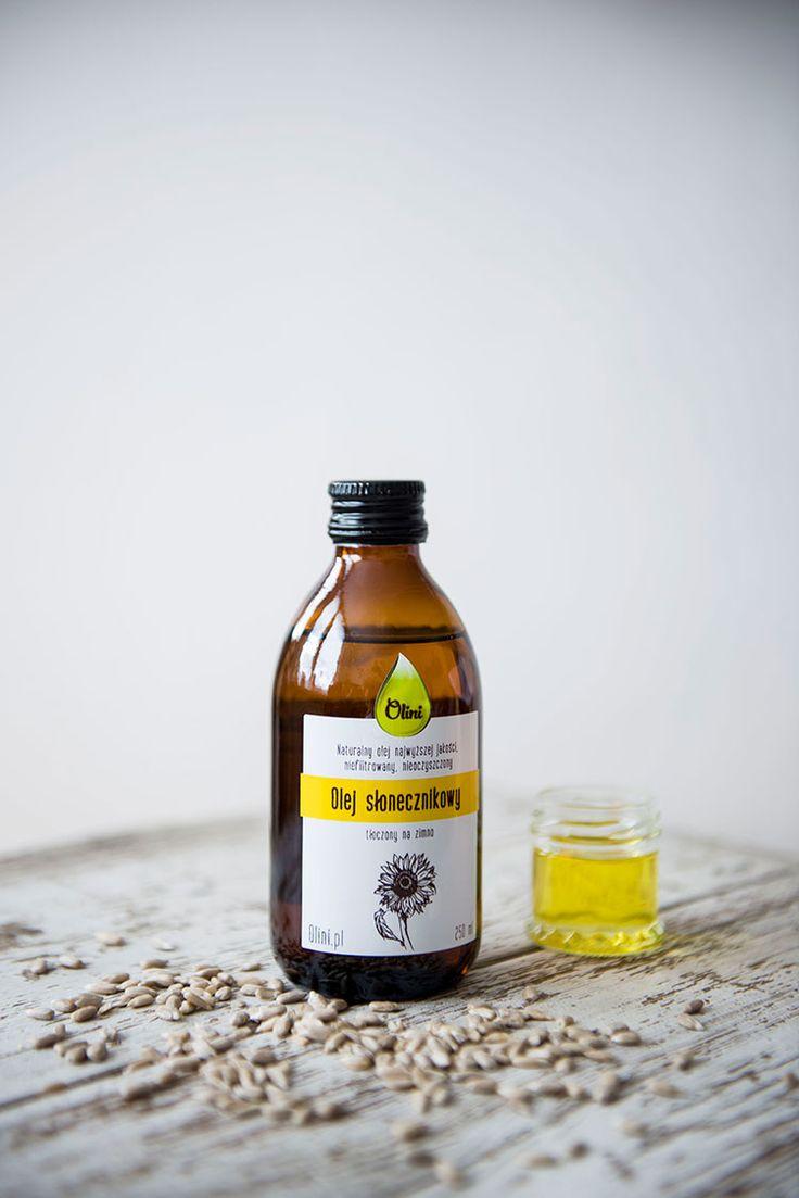 Olej słonecznikowy tłoczony na zimno • Olini