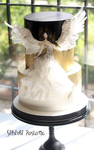 Angel in the Dark Cake by Sihirli Pastane