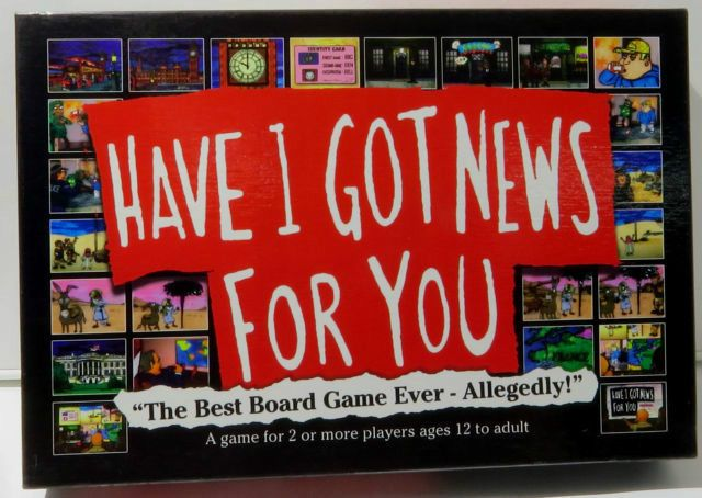 HAVE I GOT NEWS FOR YOU BOARD GAME, FAMILY FUN, BRAND NEW & SEALED, HAT TRICK