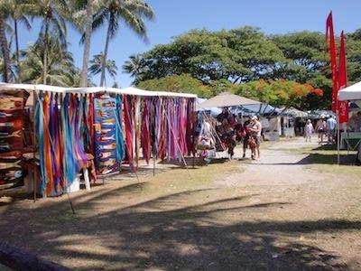 Port Douglas market stalls