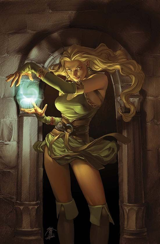 #Amora the #Enchantress on the cover from Thor, Son of Asgard #8