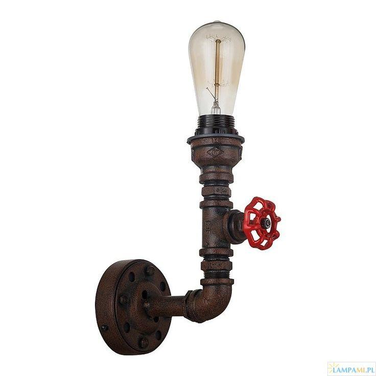 Oryginalny kinkiet Manila MBM-2846/1A wykonany ze stalowych rur w rdzawym kolorze (brązowo-czarny), o wymiarach 23x10x16 cm. Lampa do kupienia w naszym sklepie: http://zlampami.pl/916-manila-mbm-28461a-kinkiet.html