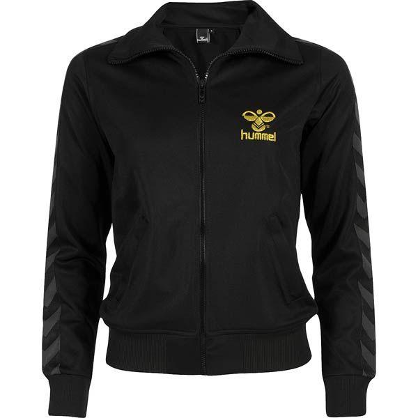hummel wmns atlanta zip jacket n black/gold bei KICKZ.com