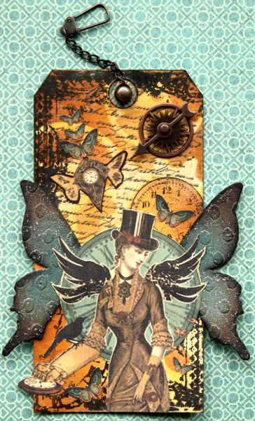 steampunk card creations | Time Flies - Created by: Nancy Dare - Shared on our Ning gallery
