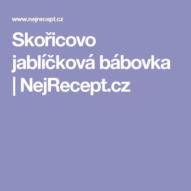 Skořicovo jablíčková bábovka | NejRecept.cz