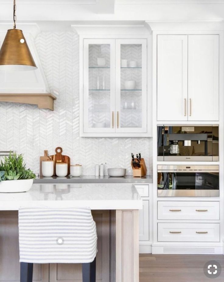 Thehavenlist White Kitchen Gold Light Fixtures Washed Woods Quartz Counter Tops Home Decor Kitchen Kitchen Design Design Your Kitchen