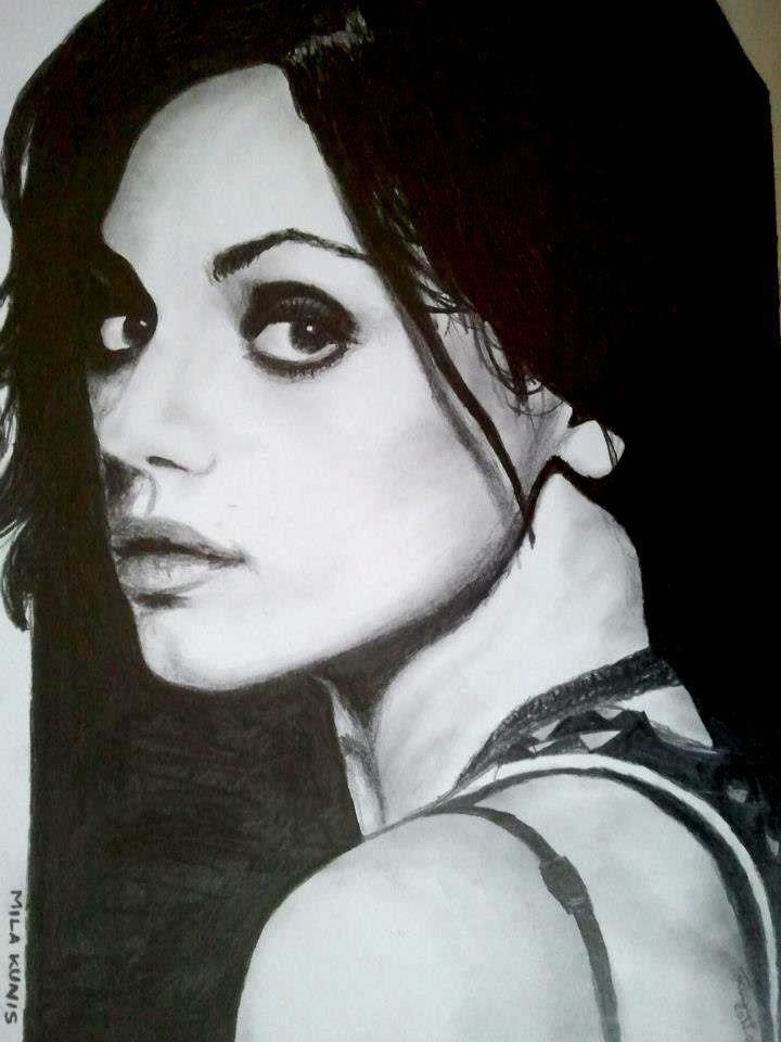 Mila Kunis pencil portrait