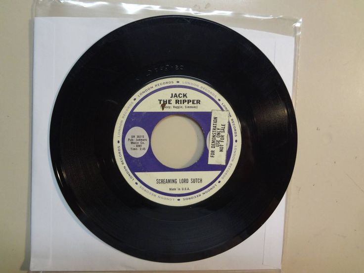 "SCREAMING LORD SUTCH: Jack The Ripper-Don't You Just Know It-U.S. 7"" 1963 London #ModRockBritishInvasionPsychedelicRock"