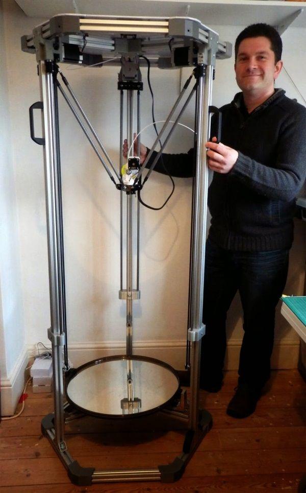 3ders.org - Richard Horne releases 3DRnano & 1.8m tall 3DRmega Delta 3D printers | 3D Printer News & 3D Printing News