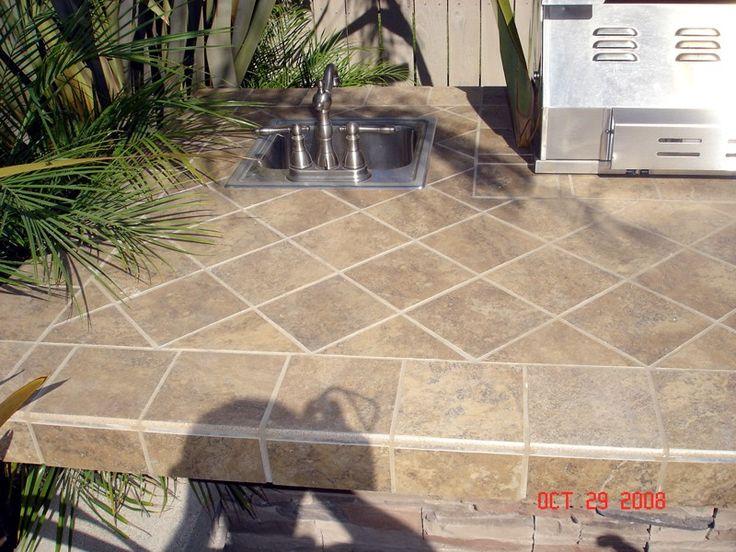 Outdoor Kitchen Tile : Countertop Tile Idea images  DIY Tile Projects  Pinterest  Tile ...