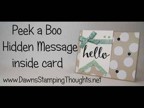Peek a Boo Hidden Message card with Hello Sale a Bration stamp set from Stampin'Up! - YouTube