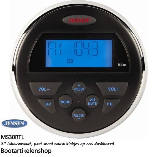 Jensen Marine MS30RTL boot radio. AUX/USB (mp3, mp4, wma)