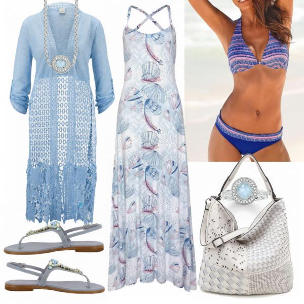 Sommer-Outfits: AJC Kleid bei FrauenOutfits.de #mode #damenmode #frauenmode #out…