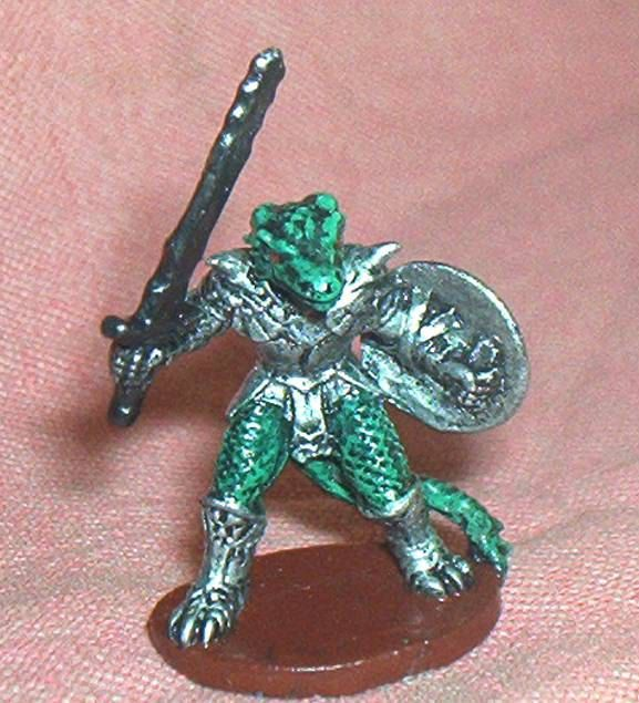 Nice, Collector Painted, Armored LIZARDMAN W/Sword, 1 1/2 inch Metal  Figure, AD&D, 25-28mm Scale,  Ral Partha/Grenadier(?), '80's, Exc. by brotoys1 on Etsy