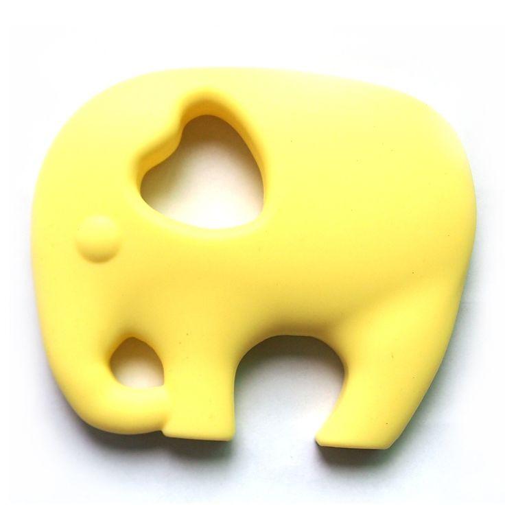 Lemon Chewable Silicone Elephant Necklace with safety clasp - Brad's Little Aussie Autism Shop