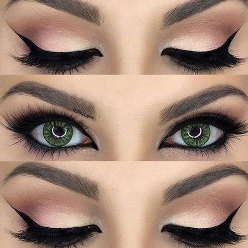 Check out this cat eye makeup tutorial.