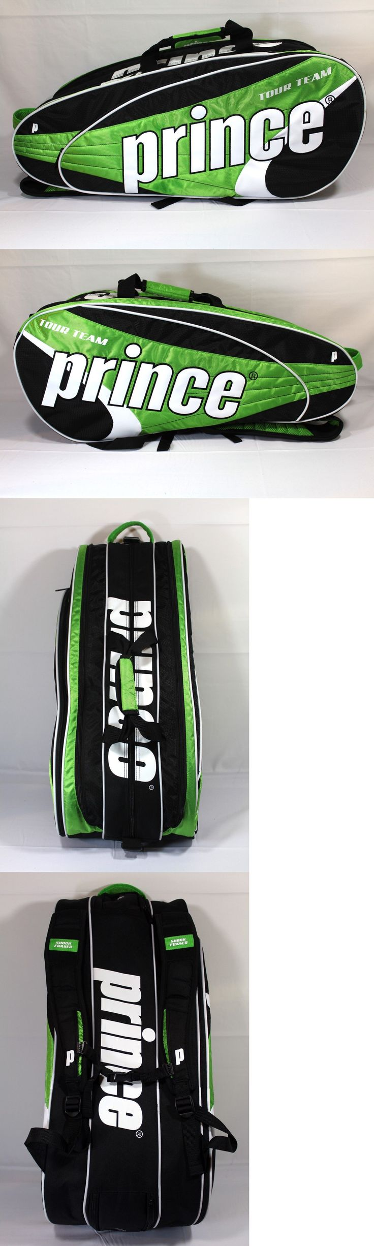 Bags 20869: New Prince Tour Team 9 Pack Tennis Bag Green Black Tennis Racquet Bag -> BUY IT NOW ONLY: $69.94 on eBay!