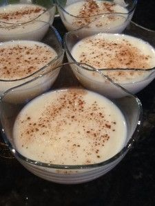 Greek rice pudding (Rizogalo) Recipe by LitsaB  Get the recipe here. http://hummingbirdpublications.com/greek-rice-pudding-rizogalo/