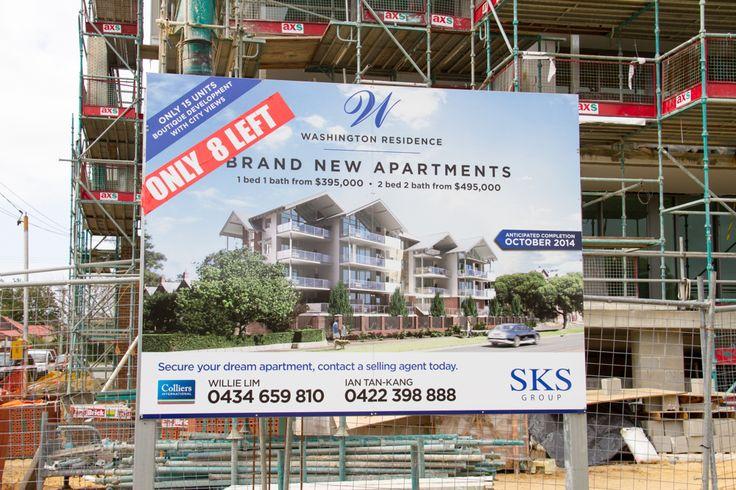 Washington Residence Perth - Sale Signage