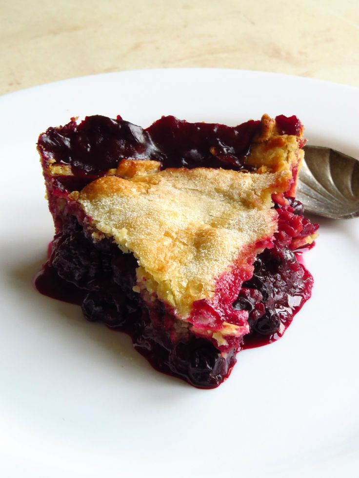 "Appleberry Pie (recipe) - ""The grated apple adds great texture and some sweetness without having to add extra sugar."""