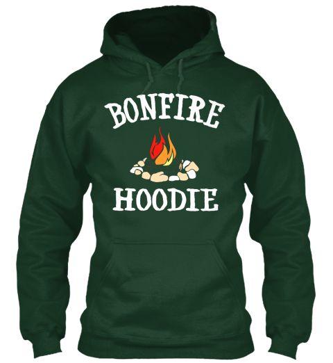 Bonfire &Amp; Hoodie Forest Green Sweatshirt Front