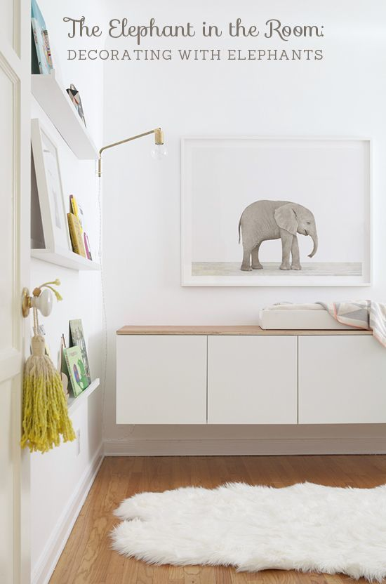 The elephant in the room: Decorating with elephants // At Home in Love