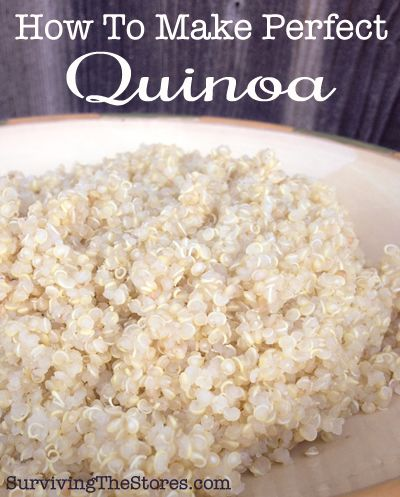 How to cook perfect Quinoa! It's so much easier than I thought!    www.survivingthestores.com