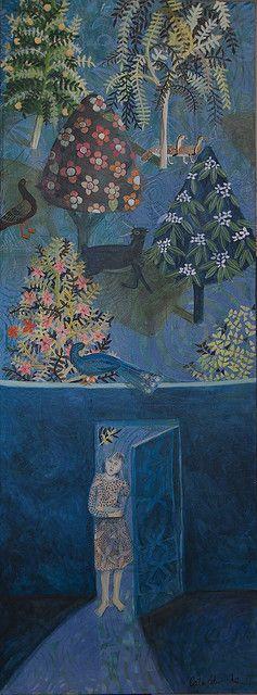 blue walled garden(cate edwards)
