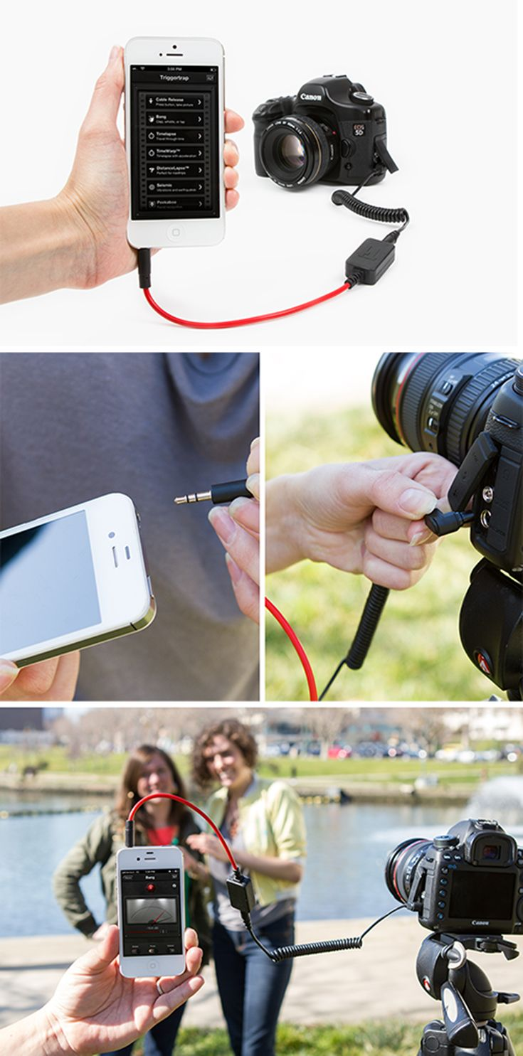WANT Fire your DSLR from your phone using a motion sensor, sound trigger, face detection, easy to set up time or distance-lapses, customizable HDR settings and more. With just a little help from the Triggertrap!