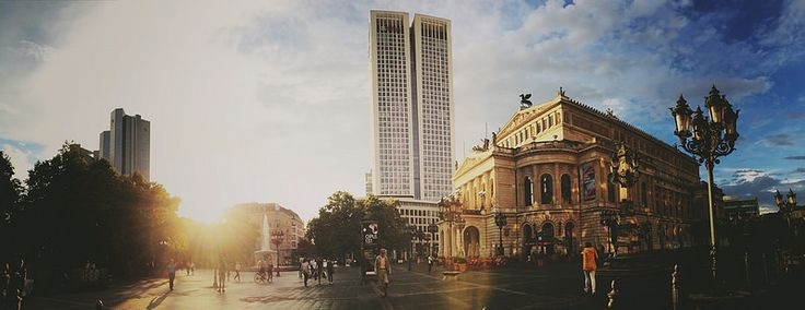 #Opernplatz #Frankfurt #iPhone6 #Panorama