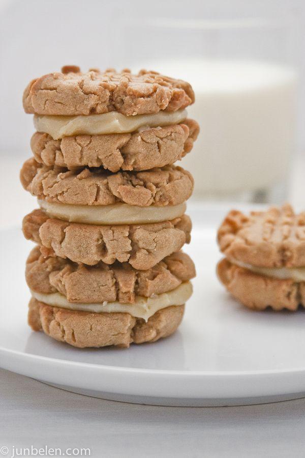 Dulce de Leche peanut butter sandwich cookie