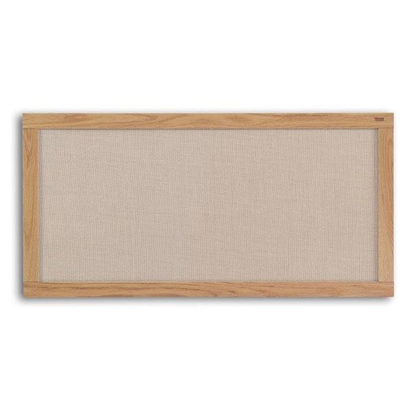 Burlap Bulletin Board - Wood Frame - 4'H x 8'W at SCHOOLSin