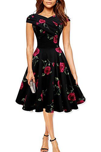 Black Butterfly 'Enya' Vintage Infinity Pin-up Dress (Black - Large Red Roses, UK 22) Black Butterfly Clothing http://www.amazon.co.uk/dp/B00S1L5096/ref=cm_sw_r_pi_dp_cP0Wvb1G5CXWN