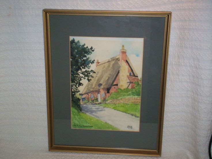 Original Watercolour, entitled ' The Pottery- Elmley Castle' a thatched cottage. | eBay