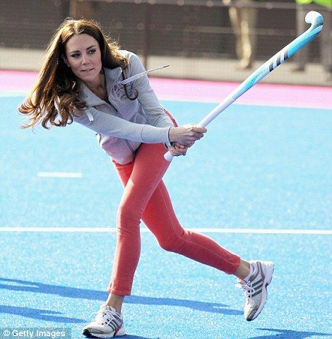 Duchess of Cambridge joining the Olympic Team GB for some Hockey practice. Is there anything this gal isn't good at?? Amazing!