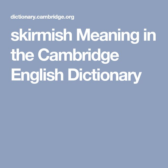 skirmish Meaning in the Cambridge English Dictionary