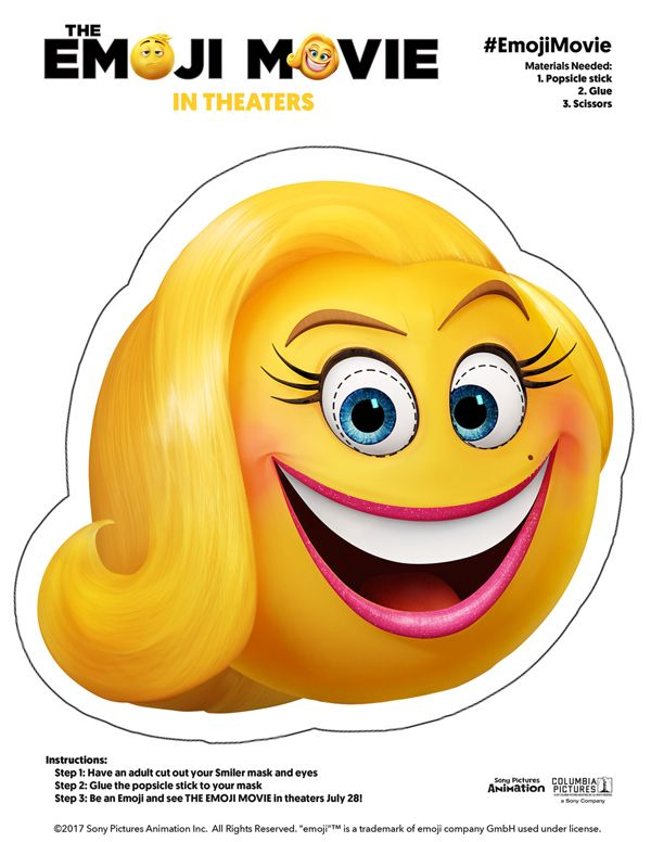 3128d3b5a9a 5 FREE PRINTABLE EMOJI MOVIE MASK FOR KIDS