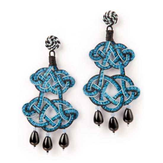 Chandelier decò earrings...our evergreen design enriched with chenille