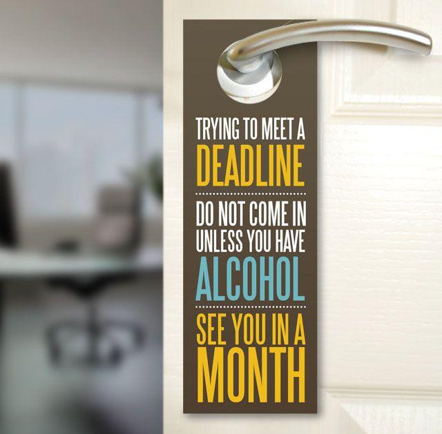 Office Door Hanger.