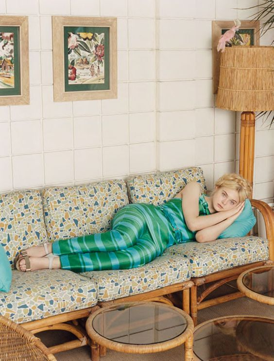 Elle Fanning photographed by Venetia Scott for Self Service Magazine, Spring/Summer 2012: