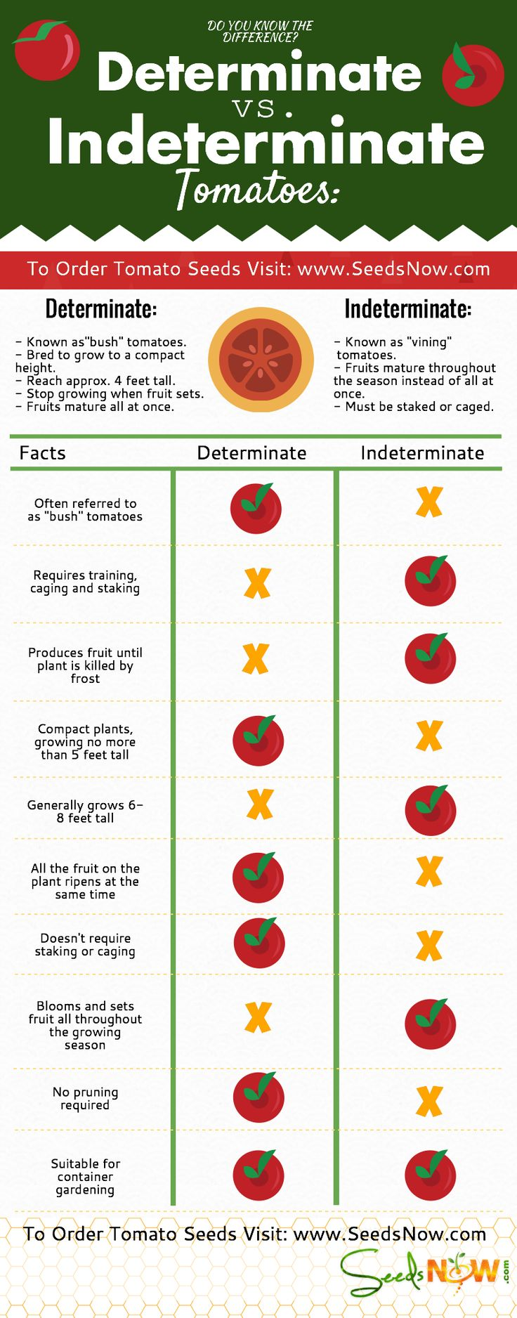 What is the Difference Between Indeterminate and Determinate Tomatoes? | SeedsNow.com