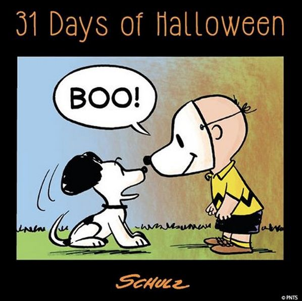 30 days until halloween with snoopy and charlie brown - Charlie Brown Halloween Cartoon